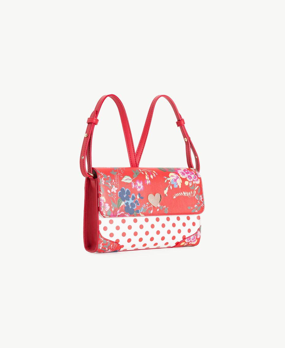 Printed backpack Flowers Print / Pomegranate Red Polka Dot Print Child GS87BK-02