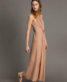 """Robe longue avec bretelles fines Marron """"Grès de Pétra"""" Femme 191LM2HAA-02"""