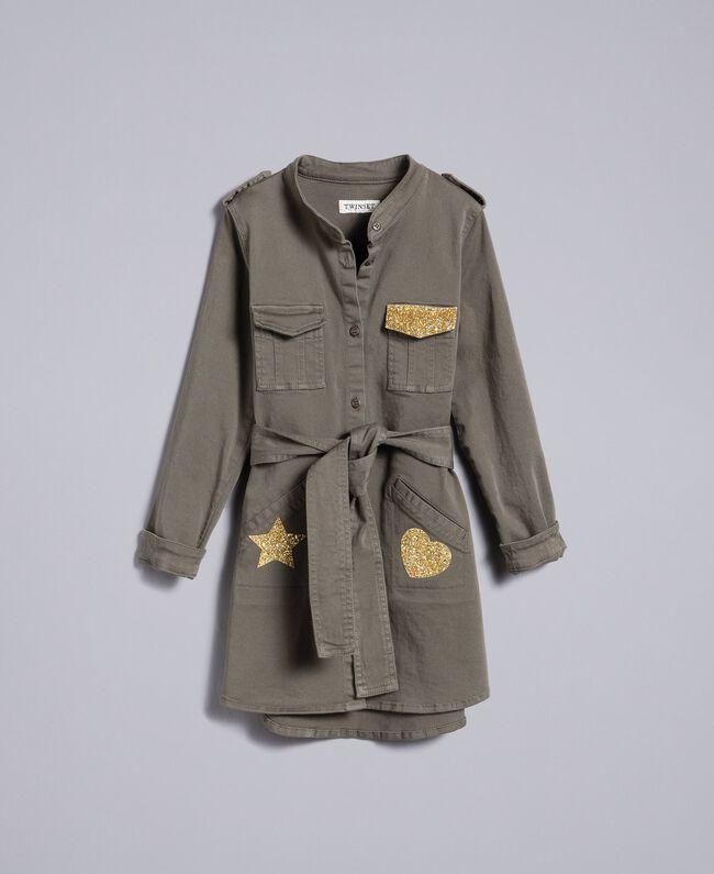 Cotton shirt dress with star Olive Child GA827R-01
