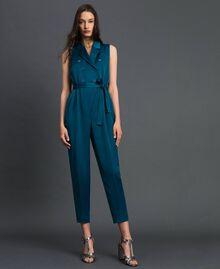 Combinaison croisée avec ceinture Bleu «Lake» Femme 192MP2350-02