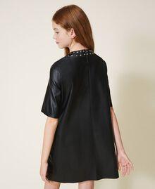 Платье из искусственной кожи со звездочками Черный Pебенок 202GJ2831-03