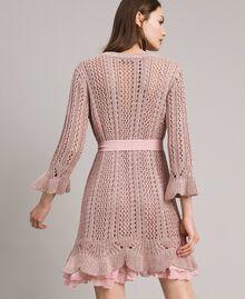 Robe en maille de lurex Lurex Rose Perle Femme 191TP3350-04