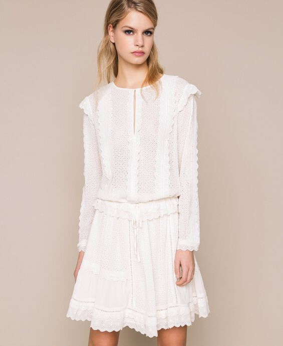 Блуза из кружева сангалло