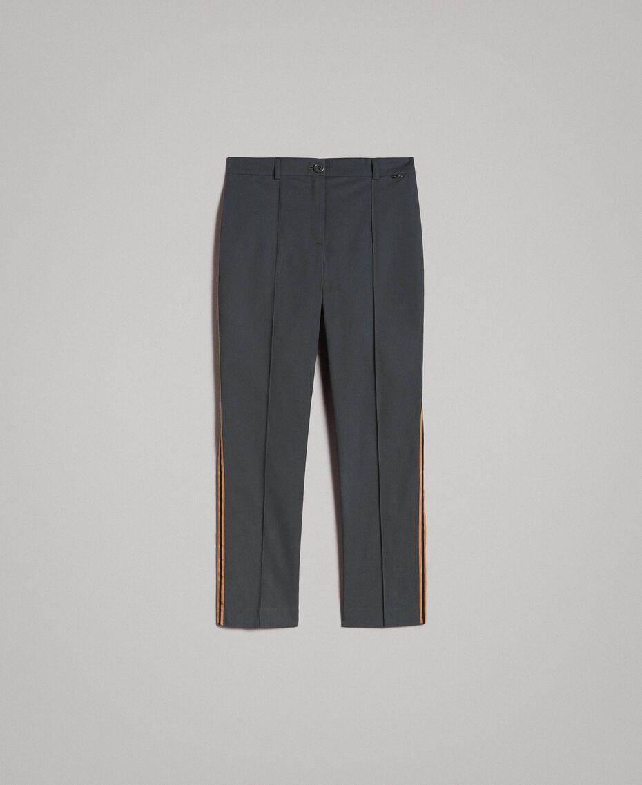 Pantalon en popeline à coupe cigarette Sous-bois Femme 191ST2040-0S