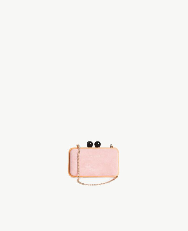 TWINSET Leather clutch bag Baby Pink Woman OS8TE1-01