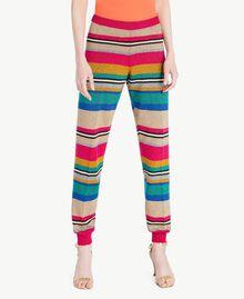 Hose mit Lurex Multicolor-Lurexstreifen Frau TS833R-01