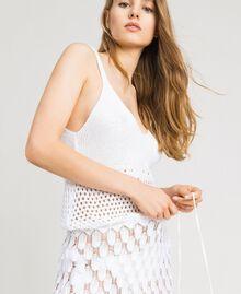 Vestido de algodón calado Blanco Mujer 191LB3GCC-04