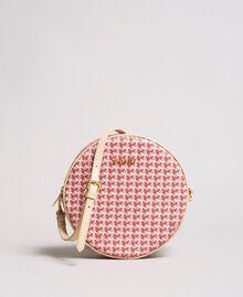 Butterfly print shoulder bag Pearl Pink Butterflies Print Woman 191TA7175-01