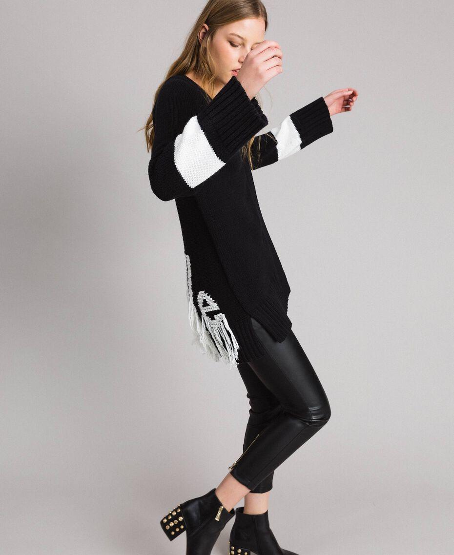 Skinny-Hose aus Kunstleder Schwarz Frau 191MP2260-0T