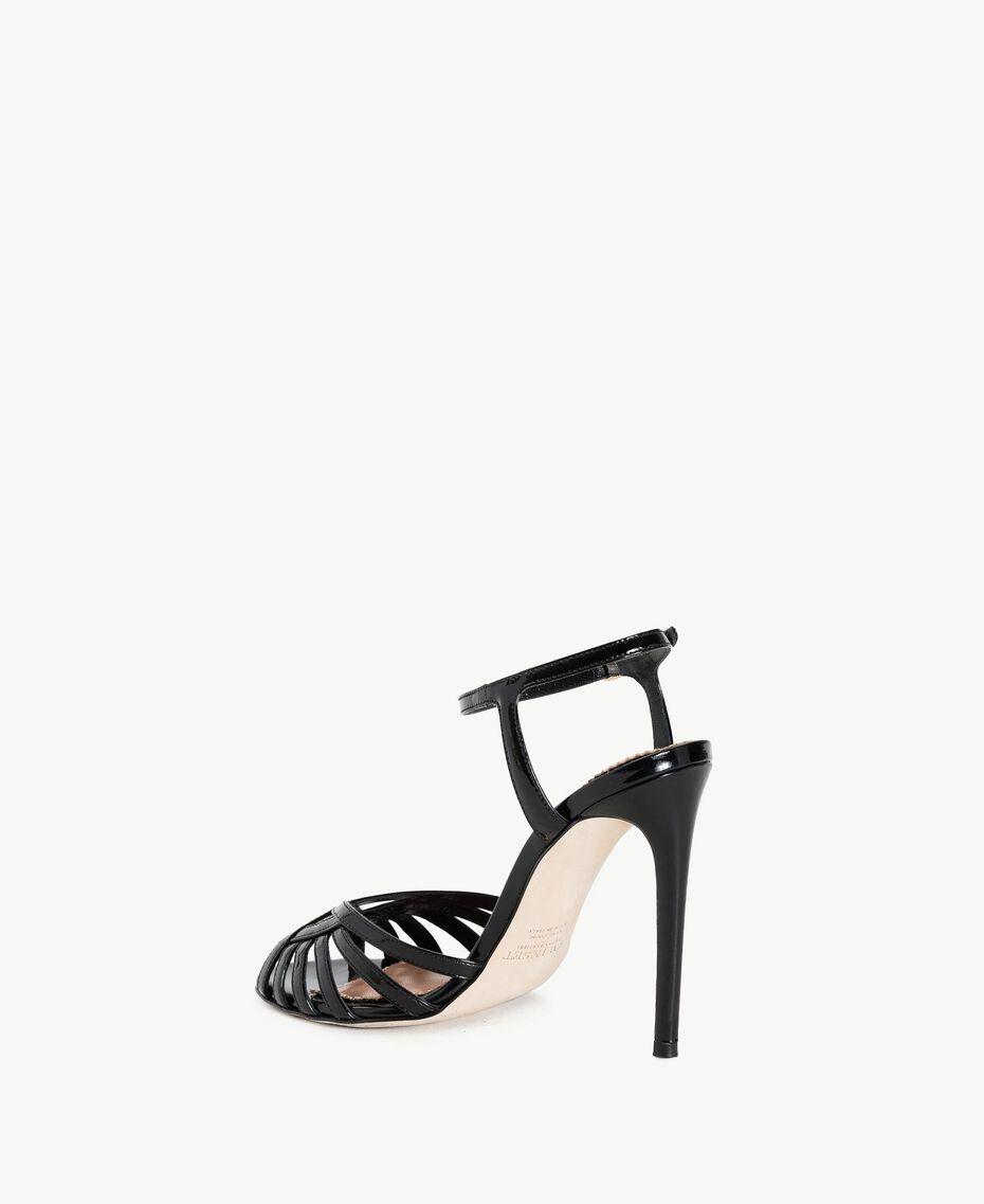 TWINSET Sandalette aus Lackleder Schwarz Frau CS8TBU-03