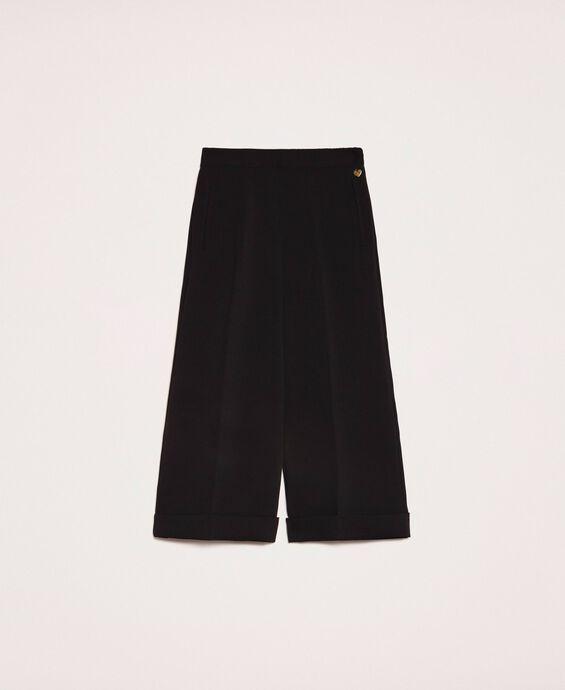 Pantalon ample en crêpe georgette