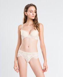 Soutien-gorge push-up lisse avec dentelle festonnée Blanc Femme IA8C33-02