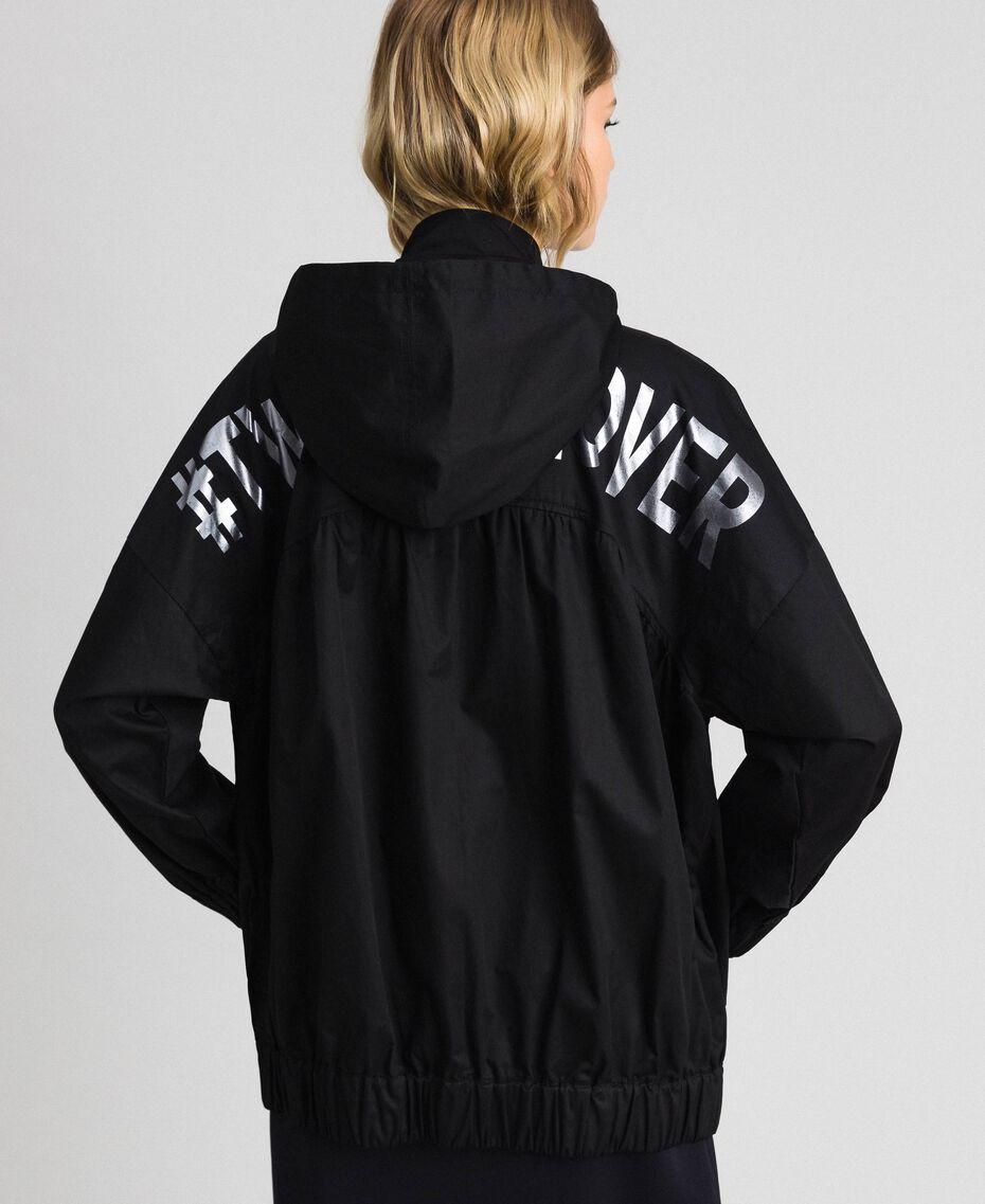 Jacket with maxi writing Black Woman 192LI2JDD-05