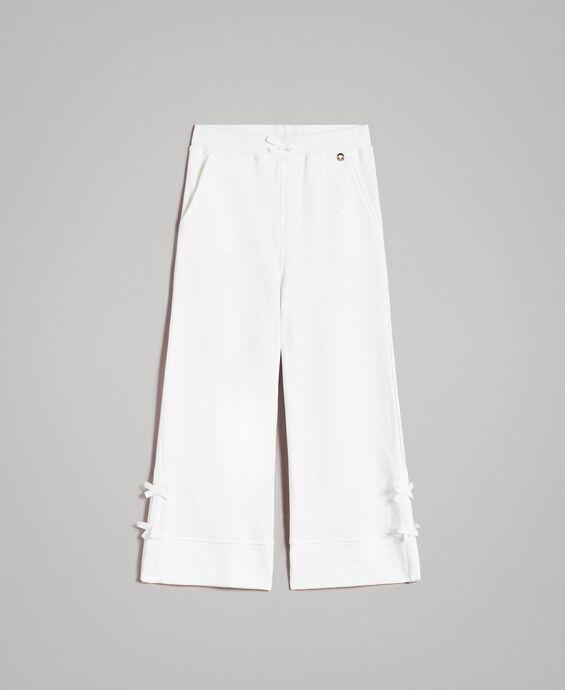 Pantalon palazzo avec nœuds