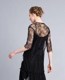 Valencienne lace blouse Black Woman PA824S-03