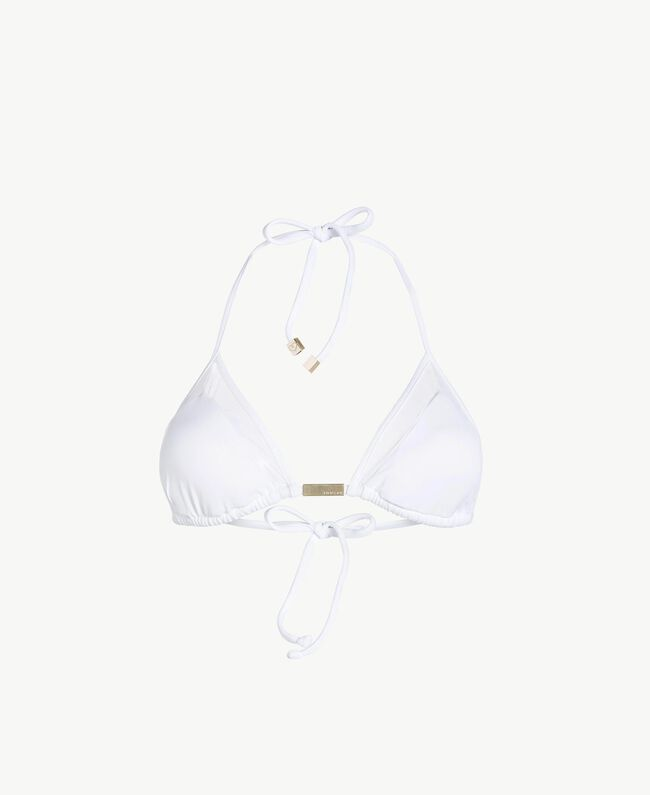 Tulle triangle bra White Woman BS8222-01