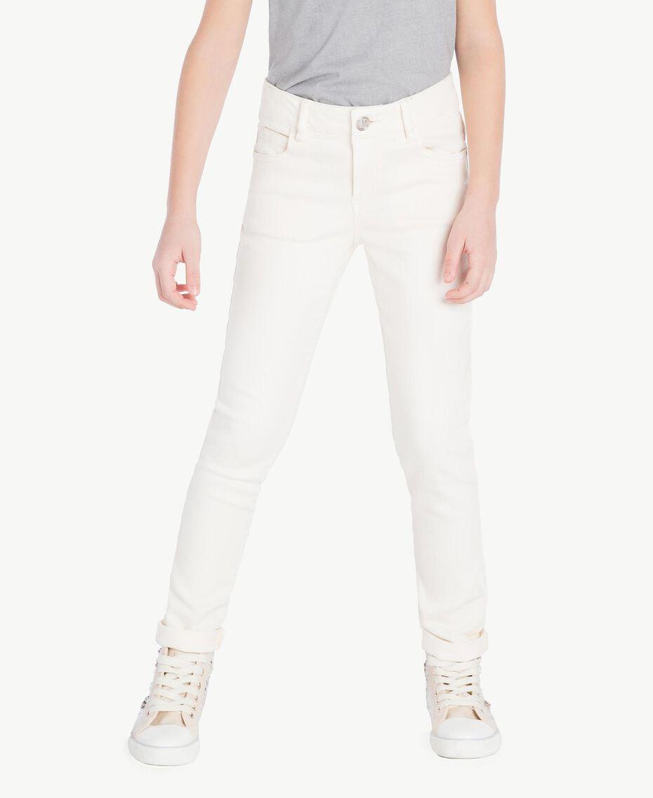 Skinny trousers Pale Cream Child GS82CP-02