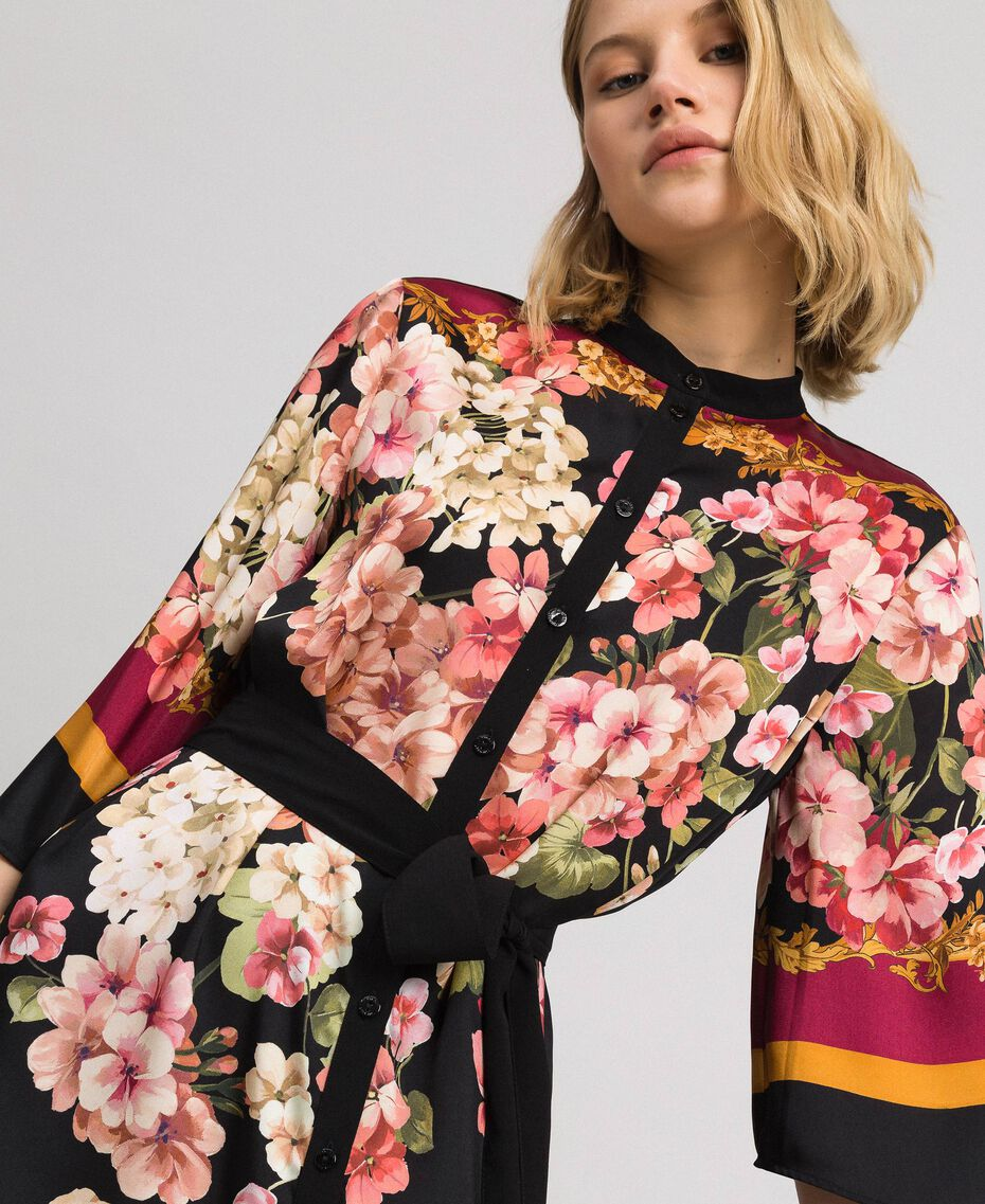 Abito chemisier con stampa foulard a fiori Stampa Foulard Piazzata Donna 192TP2601-01