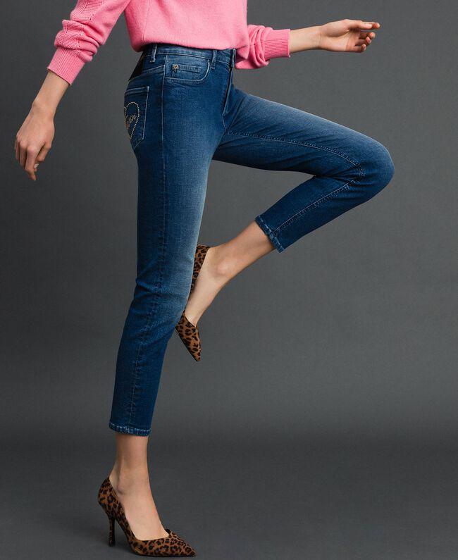 Skinnyjeans im Five-Pocket-Stil Denimblau Frau 192MP2471-03