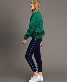 Bomber en tissu technique avec plumes Vert Evergreen Femme 191TP2011-04