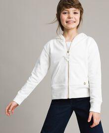 Baumwoll-Pullover mit Schleifen Mattweiß Kind 191GJ2031-02