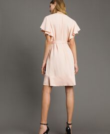 "Satin dress with belt ""Rose Sand"" Pink Woman 191TT2450-02"