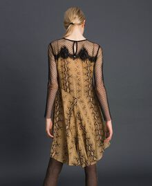 Georgette animal print dress Python Camel Print Woman 192TT2273-03