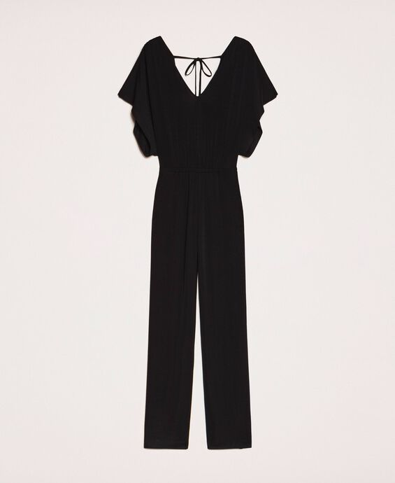 Jumpsuit with side slits
