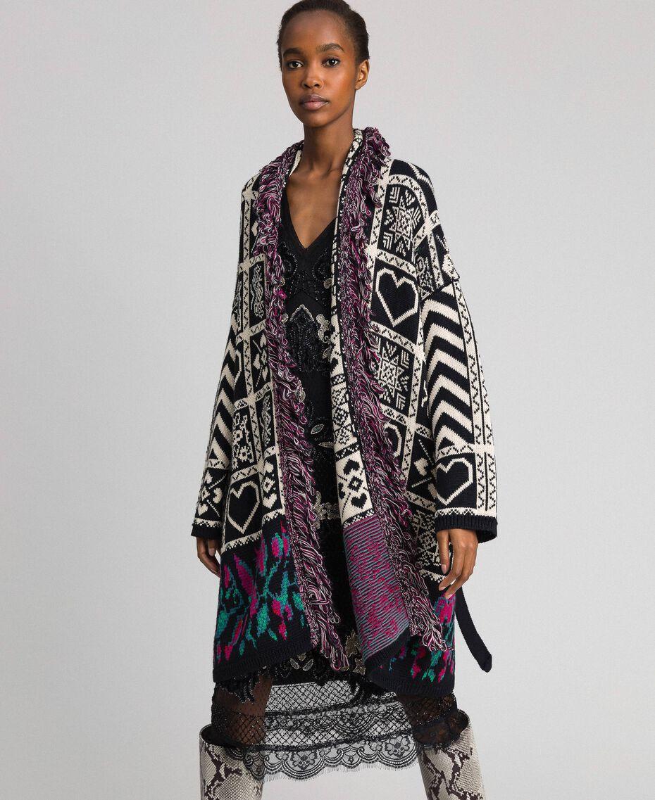 Robe en tulle plumetis avec broderie florale Noir Femme 192TT2042-0T