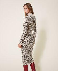 Animal print jacquard sheath dress Animal Jacquard Woman 202TT3160-03