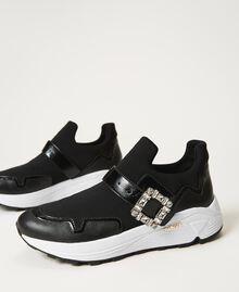 Кроссовки с ювелирной пряжкой Черный женщина 202TCP012-02
