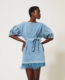 Denim dress with feathers Ocean Denim Woman 211TT2360-01
