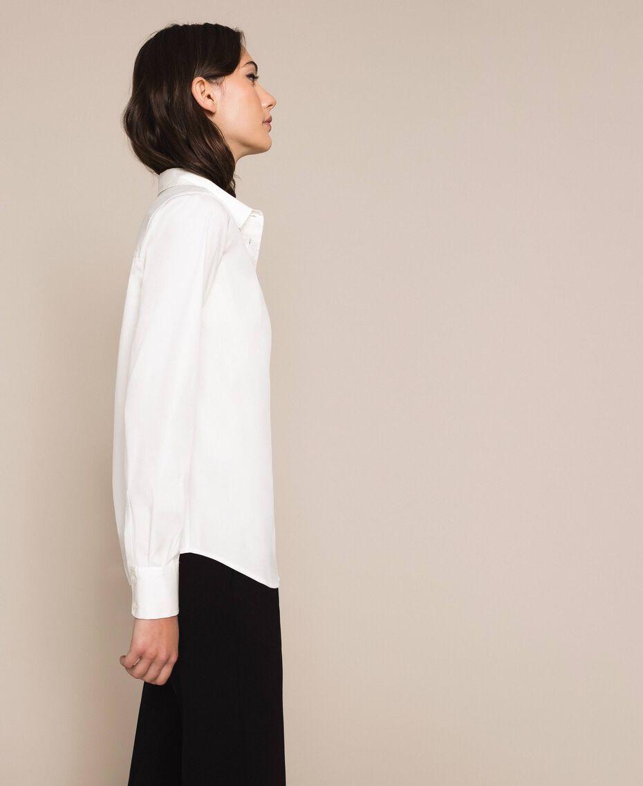 Поплиновая рубашка Blue Sky женщина 201MP2183-02