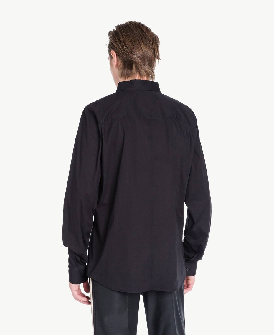 Poplin shirt Black Man US821D-03