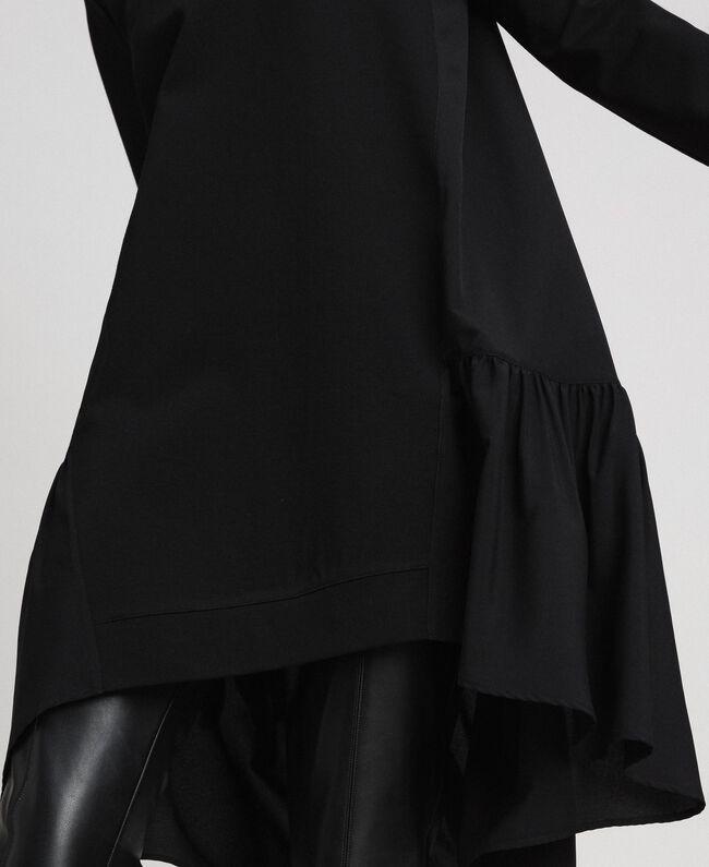 Robe avec volant asymétrique Noir Femme 192TP2640-04