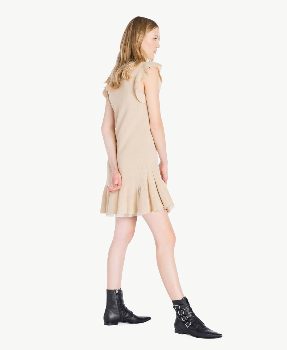 Openwork dress Ecrù Woman PS8311-02