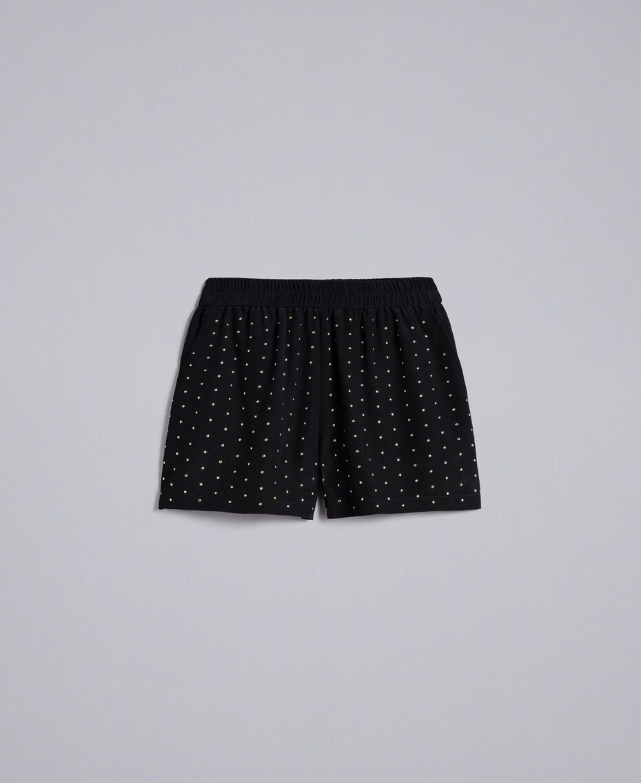 Studded silk shorts Black Woman PA82EW-0S