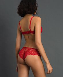 Lace Brazilian briefs Burning Red Woman 192LL6C77-03