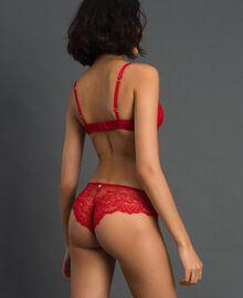 Slip brasiliana in pizzo Rosso Ardente Donna 192LL6C77-03