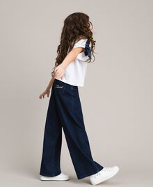 Wide leg jeans Dark Denim Child 191GJ2600-0S