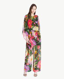 Floral pattern kaftan Summer Garden Print Woman TS824Q-01