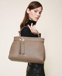 Große New Cécile Bag aus Lederimitat Taube Frau 202TB7180-0T