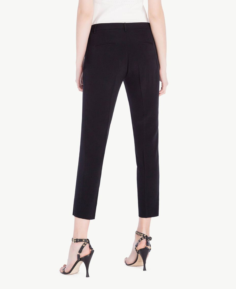 Cady drainpipe trousers Black Woman PS829B-03
