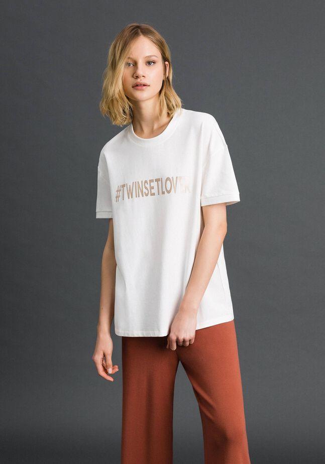 T-shirt avec imprimé lamé
