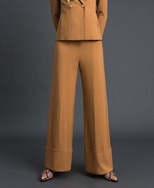 High waist palazzo trousers Irish Cream Hazelnut Woman 192MP2172-02