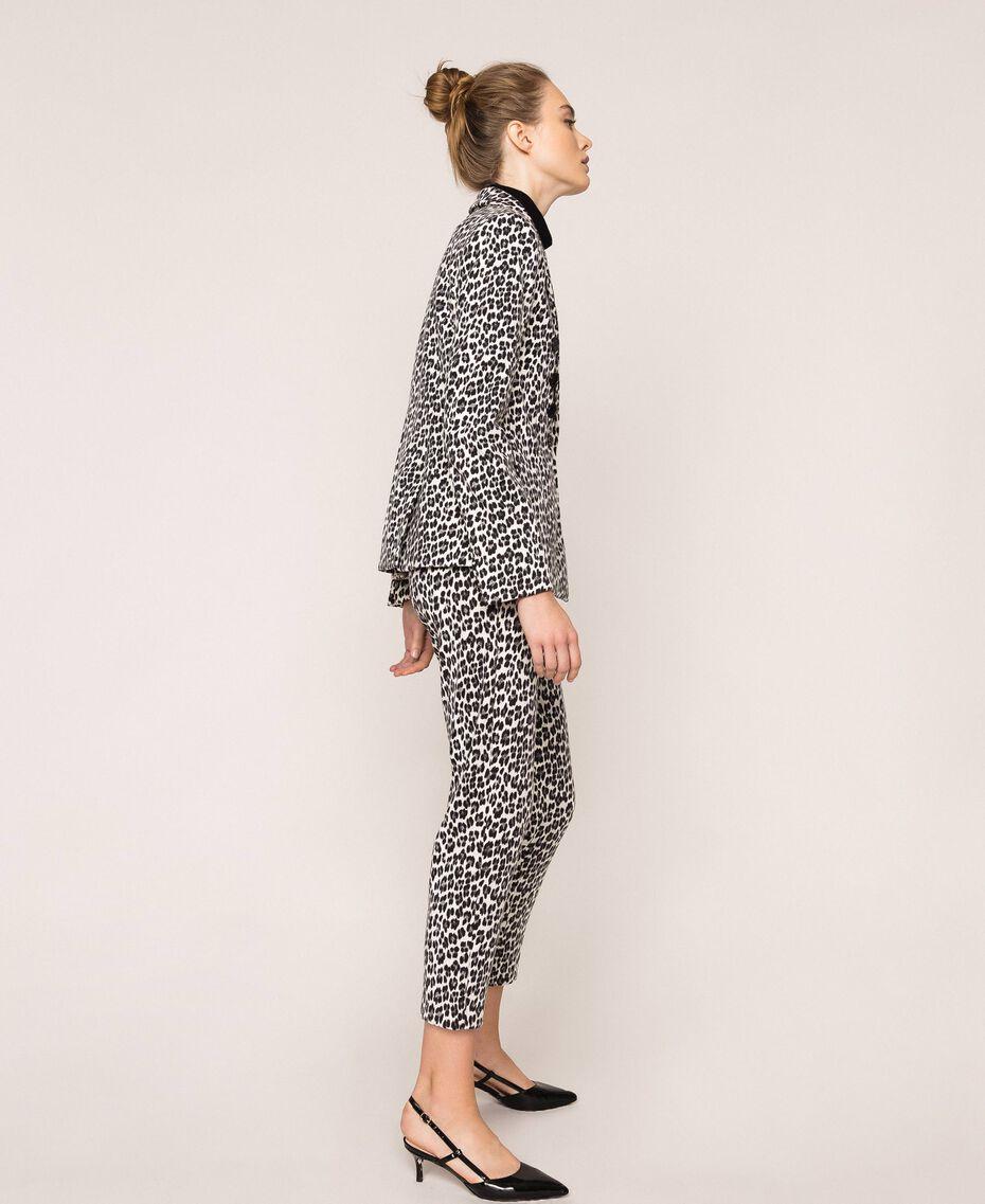 Animal print blazer Lily Animal Print / Black Woman 201MP2451-02
