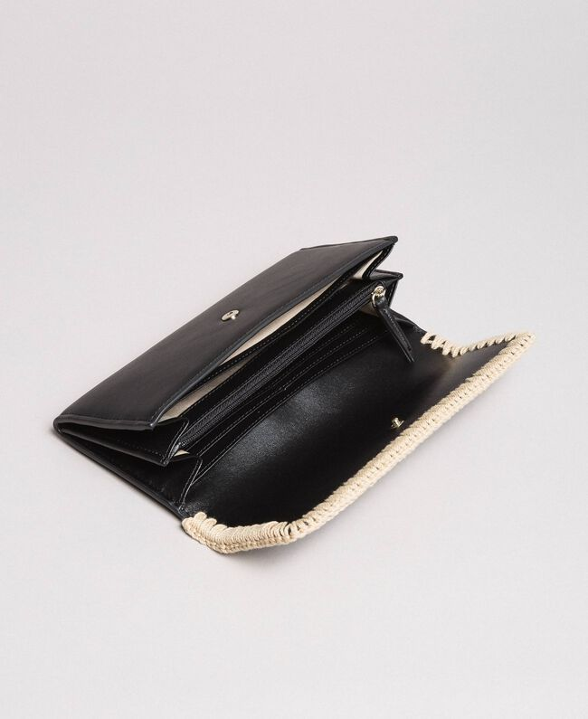 Geldbörse aus Kunstleder Schwarz Frau 191MO8094-04