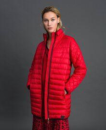 Doudoune longue ultra-légère Rouge Coquelicot Femme 192MP2101-02