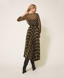 Creponne shirt with chain print Black / Ivory Large Chain Print Woman 202TT221D-04