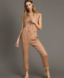 "Long jumpsuit with elasticated waistband ""Petra Sandstone"" Brown Woman 191LM2GDD-01"